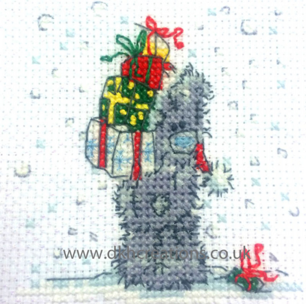 Me To You Tatty Teddy Christmas Presents For Me Mini Cross Stitch Kit